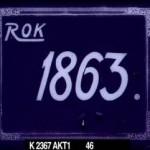 Rok 1863 - czołówka drugiej wersji